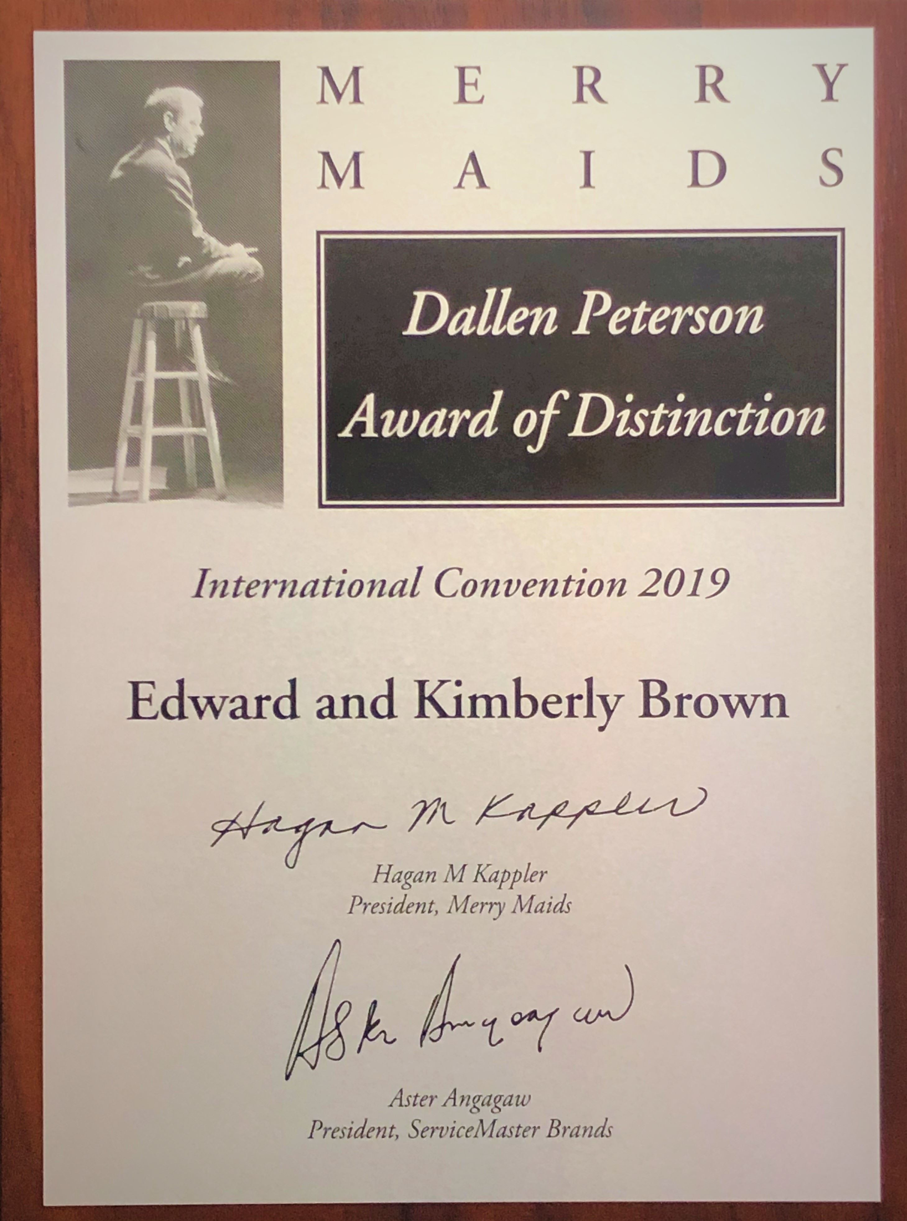 Dallen Peterson Award of Distinction