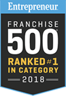 Entrepreneur Franchise 500 Ranked #1 in Category 2018