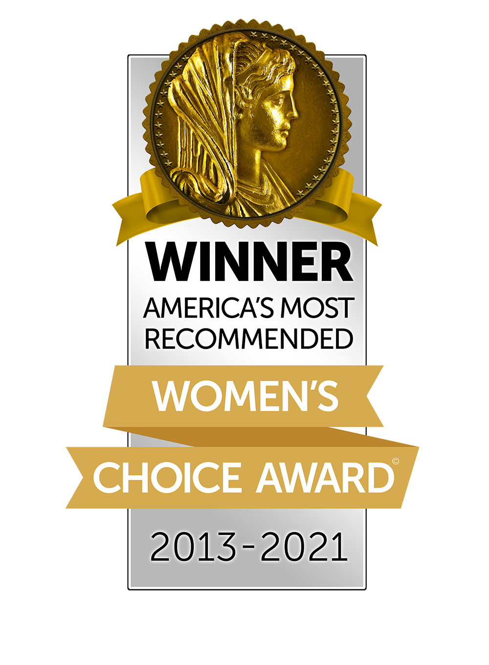 2013-2020 Women's Choice Award: America's Most Recommended