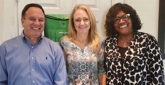 (Left to Right) Joe Schneeweis, Audrey Rehnert, & June Nwabara