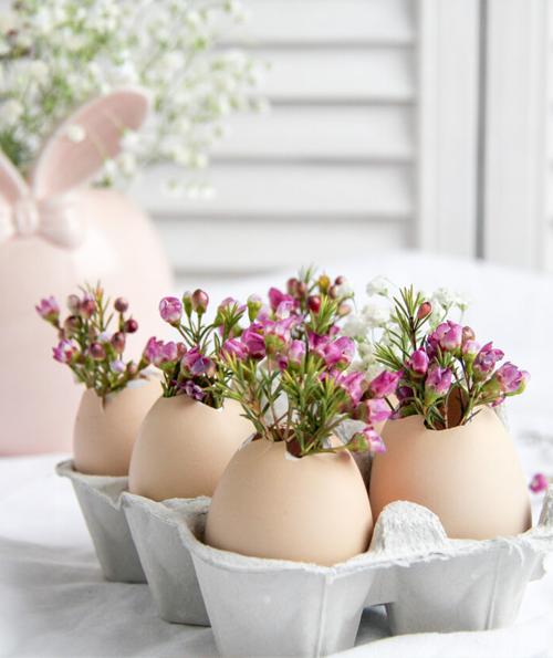 flower egg vase