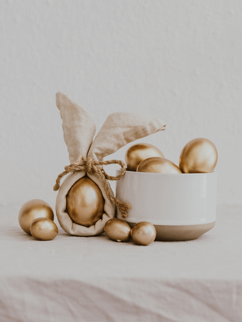 gold easter decorations