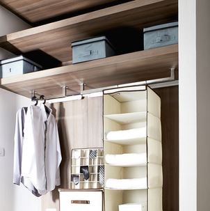 . Declutter your bedroom with these five bedroom closet storage ideas