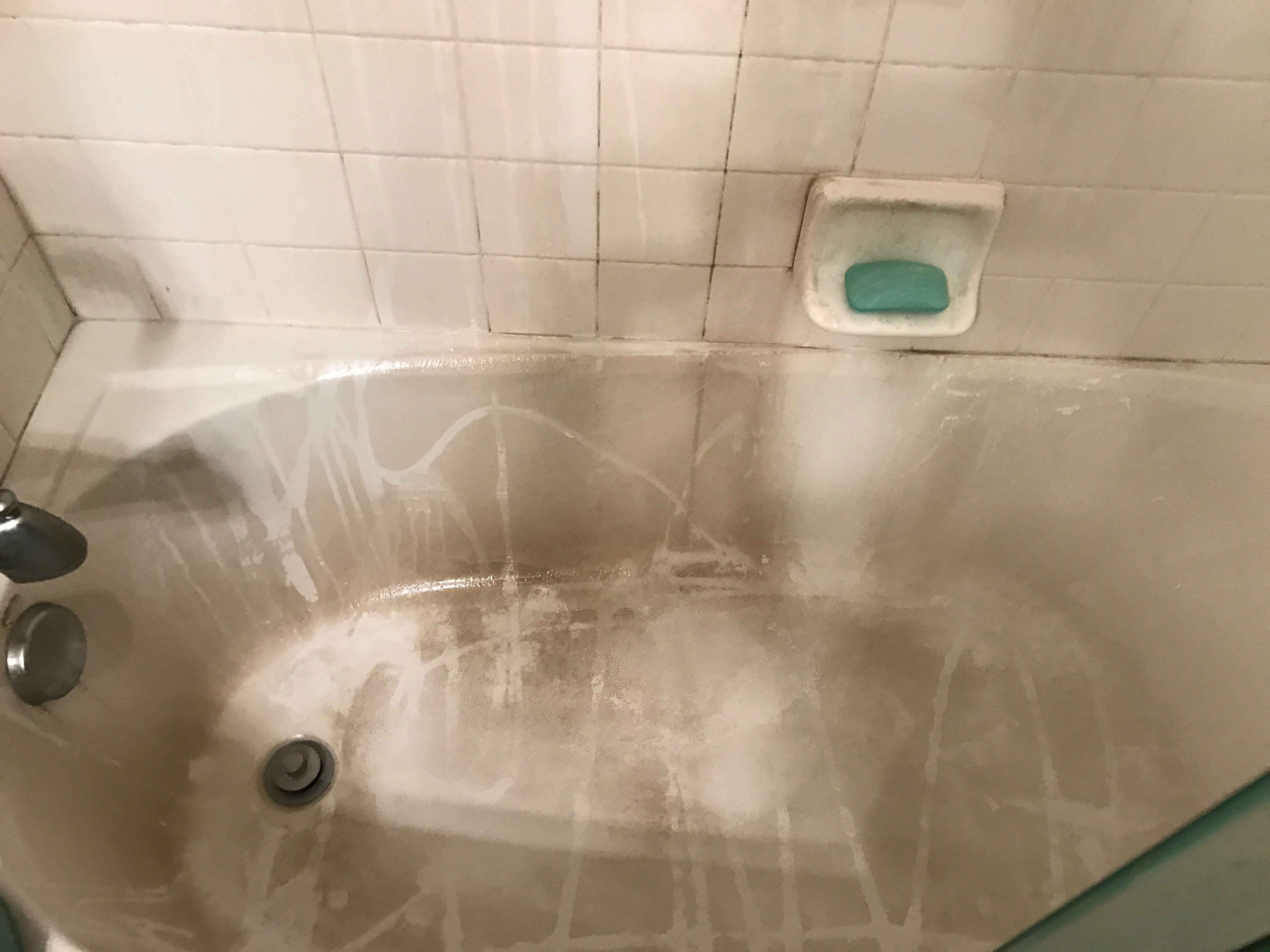 shower before being cleaned