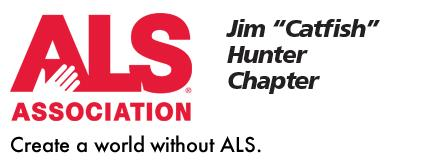 "ALS Association, Create a Work Without ALS. Jim ""Catfish"" Hunter Chapter Logo"