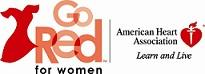Go Red for Women, American Heart Association. Learn and Live Logo