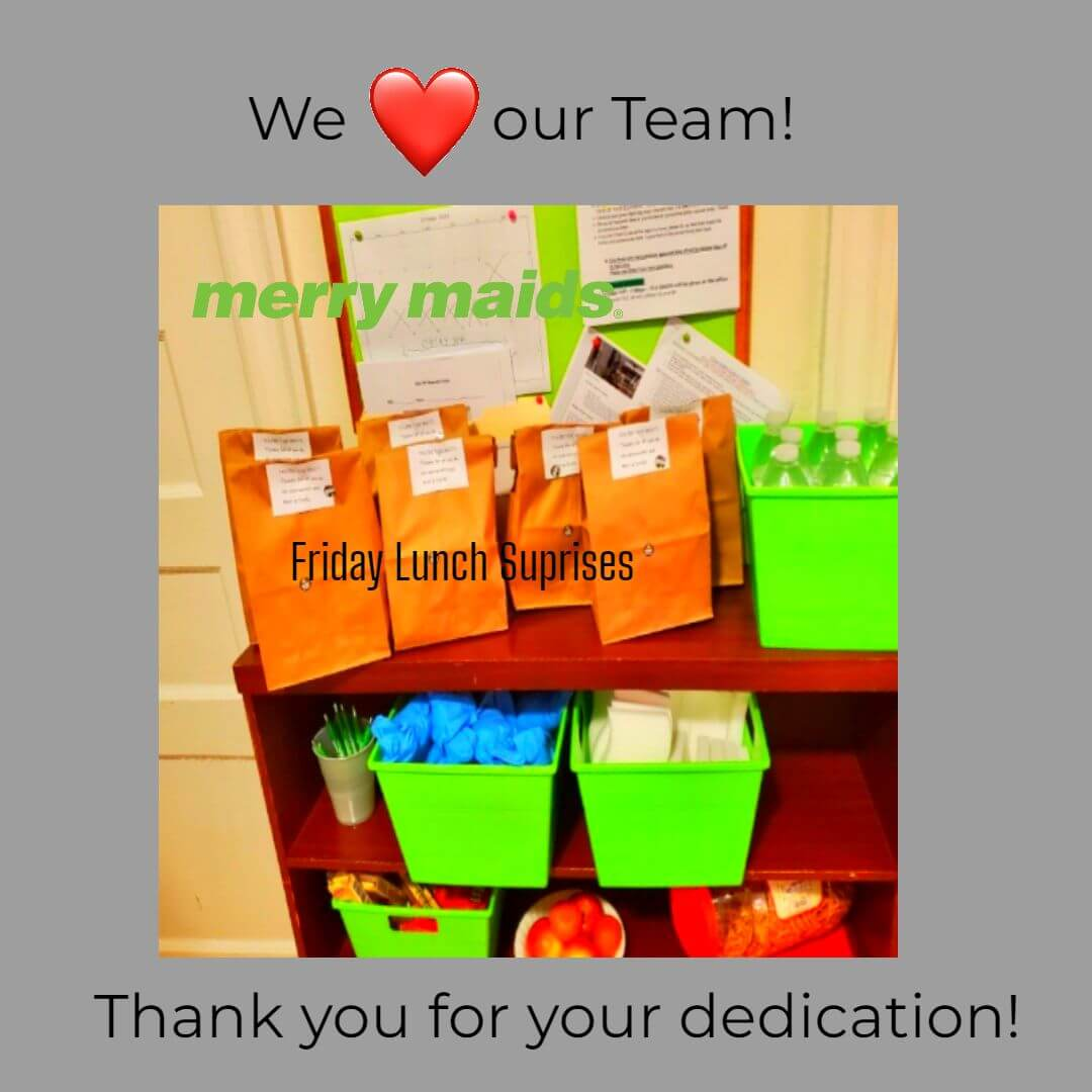 """Surprise """"thank you"""" lunch for the team"""