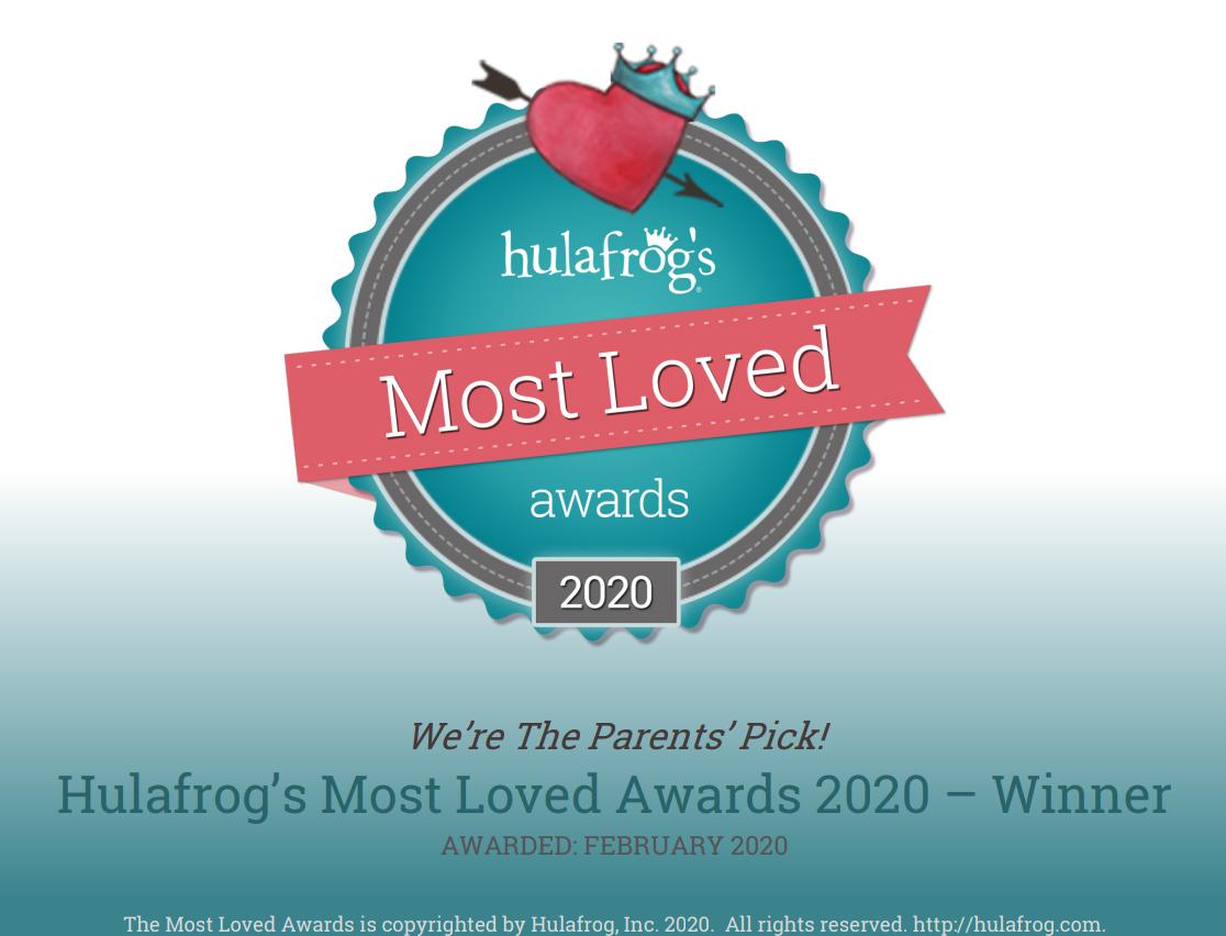 Hulafrog's most Loved Award  2020